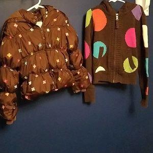 Gymboree jacket and gap kids sweater 5/6 8